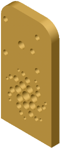 a cad model of the baseplate