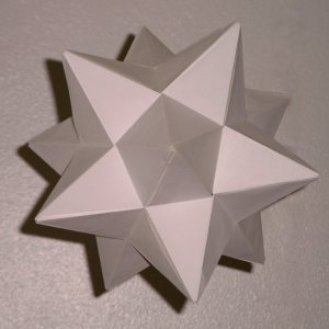 white greater stellated dodecahedron